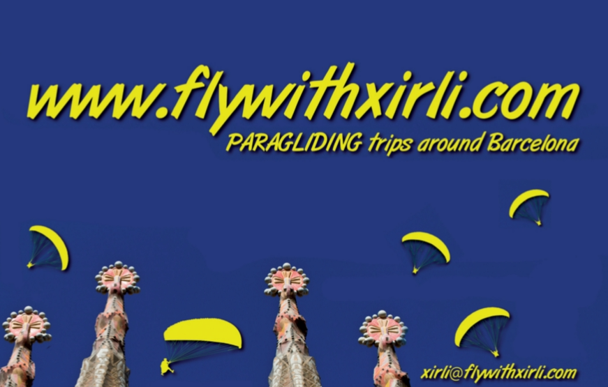 paragliding, flywithxirli, barcelona,