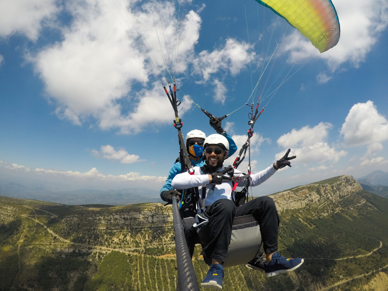 fly with xirli paraglding tandem flight